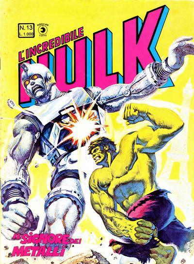 Cover for L'Incredibile Hulk (Editoriale Corno, 1980 series) #13