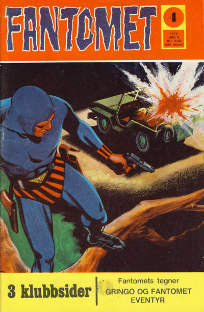 Cover for Fantomet (Romanforlaget, 1966 series) #4/1972