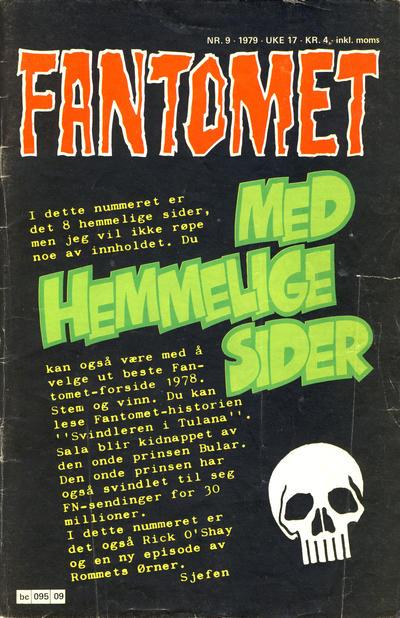 Cover for Fantomet (Semic, 1976 series) #9/1979