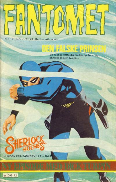 Cover for Fantomet (Semic, 1976 series) #12/1979