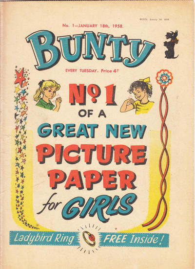 Cover for Bunty (D.C. Thomson, 1958 series) #1