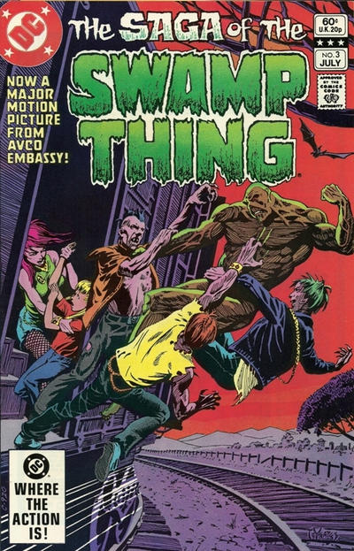Cover for The Saga of Swamp Thing (DC, 1982 series) #3 [Direct Sales]