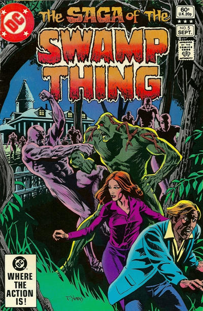 Cover for The Saga of Swamp Thing (DC, 1982 series) #5 [Newsstand]