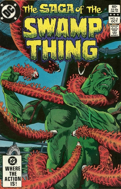 Cover for The Saga of Swamp Thing (DC, 1982 series) #6 [Direct Sales]