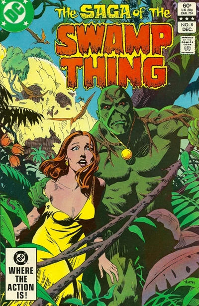 Cover for The Saga of Swamp Thing (DC, 1982 series) #8 [Newsstand]
