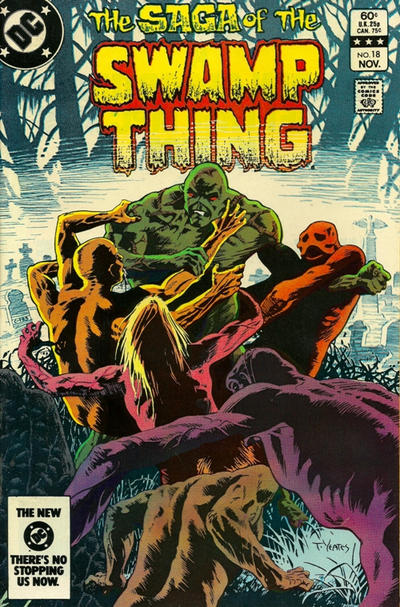 Cover for The Saga of Swamp Thing (DC, 1982 series) #18 [Newsstand]