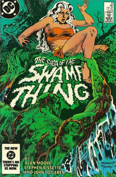 Cover for The Saga of Swamp Thing (DC, 1982 series) #25 [Direct]