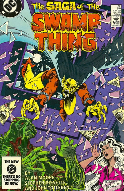 Cover for The Saga of Swamp Thing (DC, 1982 series) #27 [Newsstand]