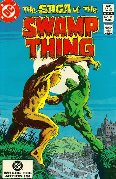 Cover for The Saga of Swamp Thing (DC, 1982 series) #11 [Direct Sales]