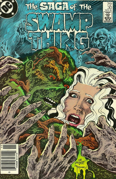Cover for The Saga of Swamp Thing (DC, 1982 series) #30 [Newsstand]