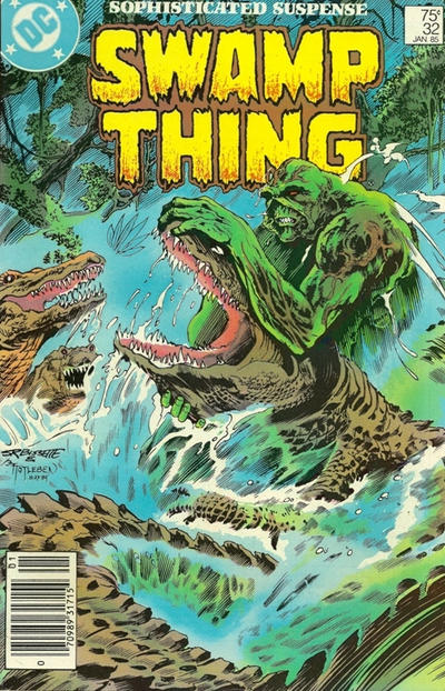 Cover for The Saga of Swamp Thing (DC, 1982 series) #32 [Newsstand]