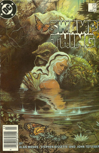 Cover for The Saga of Swamp Thing (DC, 1982 series) #34 [Newsstand]