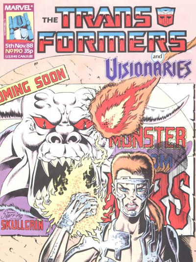 Cover for Transformers (Marvel UK, 1984 series) #190