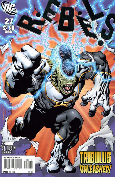 Cover for R.E.B.E.L.S. (DC, 2009 series) #27