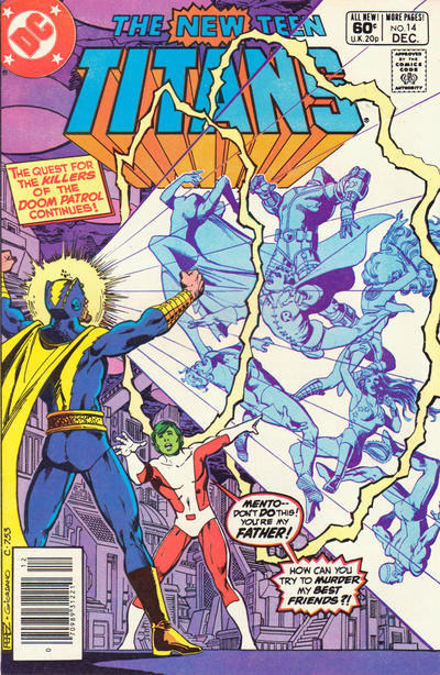 Cover for The New Teen Titans (DC, 1980 series) #14 [Direct]