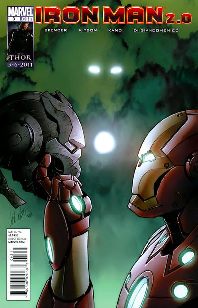 Cover for Iron Man 2.0 (Marvel, 2011 series) #3 [Variant Edition]