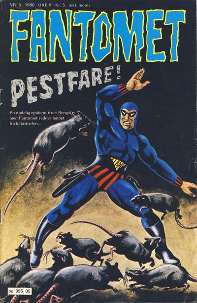 Cover for Fantomet (Semic, 1976 series) #5/1980