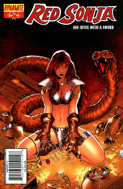 Cover for Red Sonja (Dynamite Entertainment, 2005 series) #52 [Cover A]