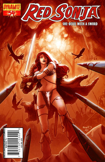 Cover for Red Sonja (Dynamite Entertainment, 2005 series) #54 [Cover A]