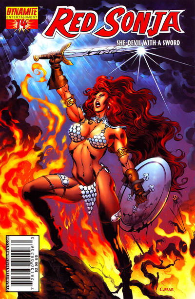 Cover for Red Sonja (Dynamite Entertainment, 2005 series) #14 [J.G. Jones Cover]