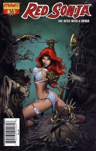 Cover for Red Sonja (Dynamite Entertainment, 2005 series) #16 [Mel Rubi Cover]