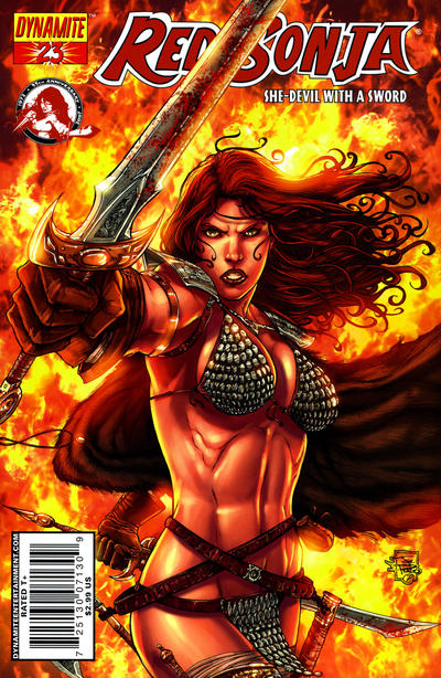 Cover for Red Sonja (Dynamite Entertainment, 2005 series) #23 [Stephen Segovia Cover]