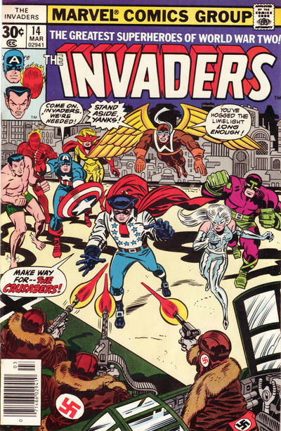 Cover for The Invaders (Marvel, 1975 series) #14 [Diamond price box]