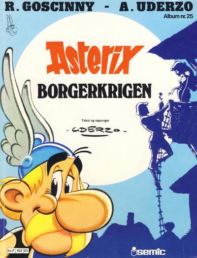 Cover for Asterix (Semic, 1980 series) #25 - Borgerkrigen [1. opplag]