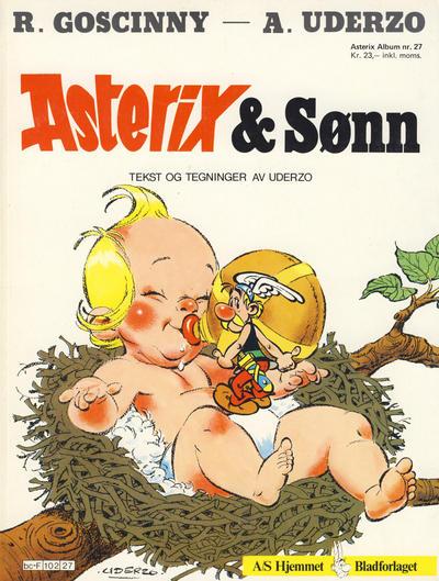 Cover for Asterix (Hjemmet / Egmont, 1969 series) #27 - Asterix & Sønn [5. opplag]