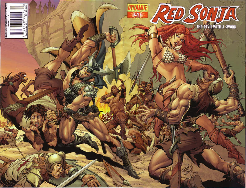 Cover for Red Sonja (Dynamite Entertainment, 2005 series) #31 [Paul Renaud Cover]