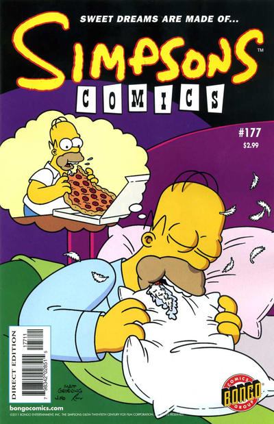 Cover for Simpsons Comics (Bongo, 1993 series) #177
