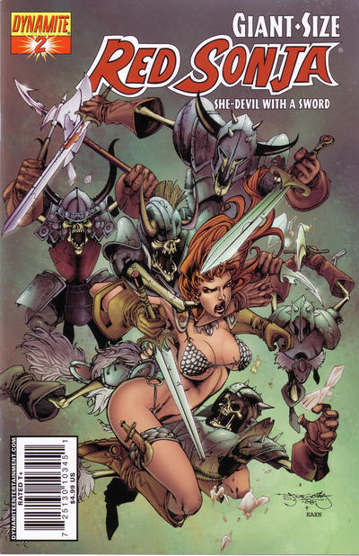 Cover for Giant-Size Red Sonja (Dynamite Entertainment, 2007 series) #2 [Edgar Salazar Cover]