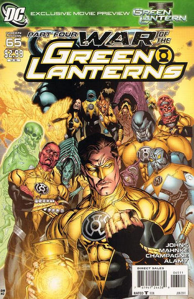 Cover for Green Lantern (DC, 2005 series) #65 [Standard Cover]