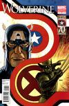 Cover for Wolverine (Marvel, 2010 series) #7 [Captain America Variant]