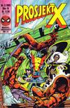 Cover for Prosjekt X (Semic, 1984 series) #5/1985