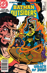Cover Thumbnail for Batman and the Outsiders (DC, 1983 series) #14 [Newsstand]