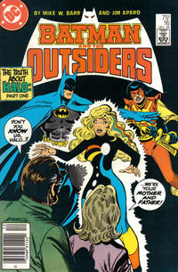 Cover Thumbnail for Batman and the Outsiders (DC, 1983 series) #16 [Newsstand]