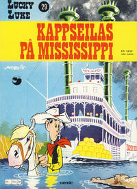 Cover Thumbnail for Lucky Luke (Semic, 1977 series) #29 - Kappseilas på Mississippi [1. opplag]
