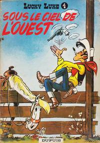 Cover Thumbnail for Lucky Luke (Dupuis, 1949 series) #4 - Sous le ciel de l'Ouest