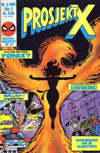 Cover Thumbnail for Prosjekt X (Semic, 1984 series) #3/1985