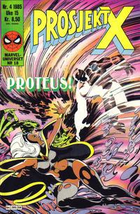 Cover Thumbnail for Prosjekt X (Semic, 1984 series) #4/1985
