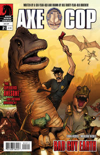 Cover Thumbnail for Axe Cop: Bad Guy Earth (Dark Horse, 2011 series) #2
