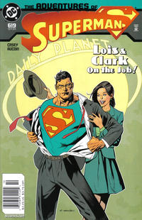 Cover Thumbnail for Adventures of Superman (DC, 1987 series) #619 [Newsstand]