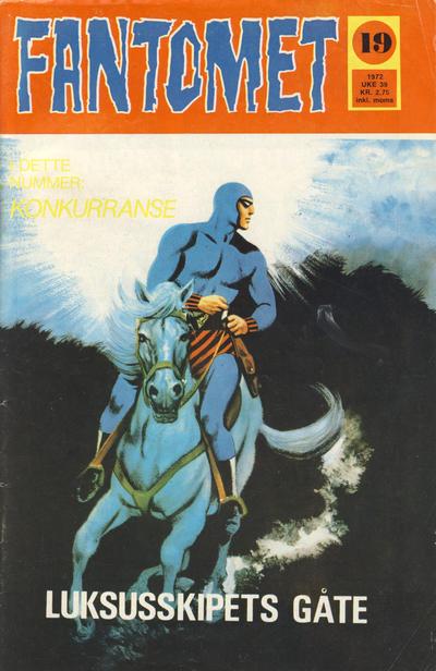 Cover for Fantomet (Romanforlaget, 1966 series) #19/1972