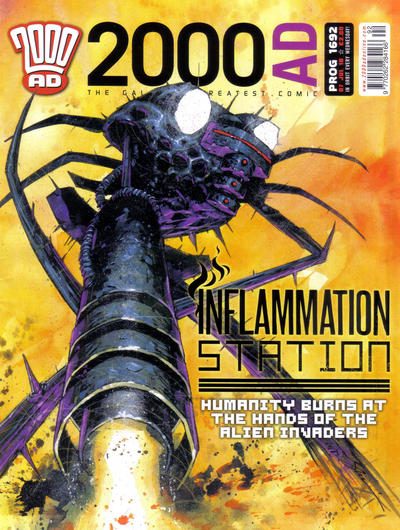 Cover for 2000 AD (Rebellion, 2001 series) #1692