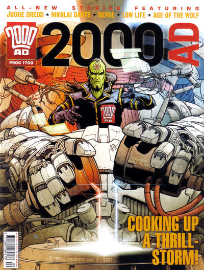 Cover for 2000 AD (Rebellion, 2001 series) #1700