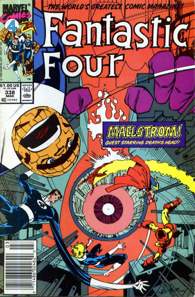 Cover for Fantastic Four (Marvel, 1961 series) #338 [Direct Edition]