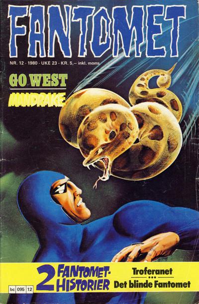 Cover for Fantomet (Semic, 1976 series) #12/1980