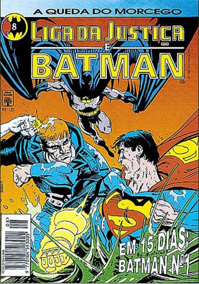 Cover for Liga da Justiça e Batman (Editora Abril, 1994 series) #8