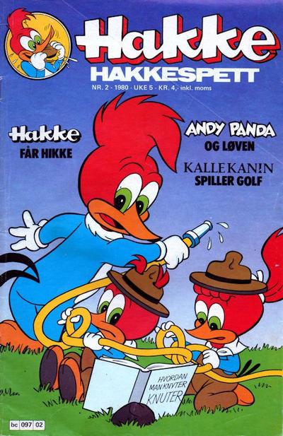 Cover for Hakke Hakkespett (Semic, 1977 series) #2/1980